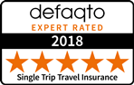 Defaqto Single Trip Travel Insurance 5 Star Rating