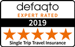 Defaqto 5 Star rated single trip travel insurance