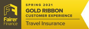 Fairer Finance Travel Insurance Gold Ribbon