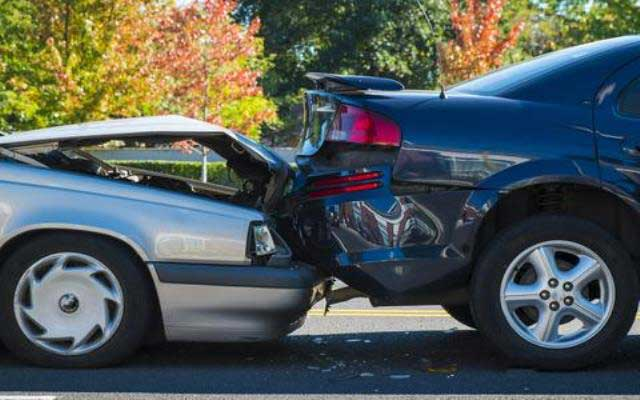 Cars in an accident car insurance